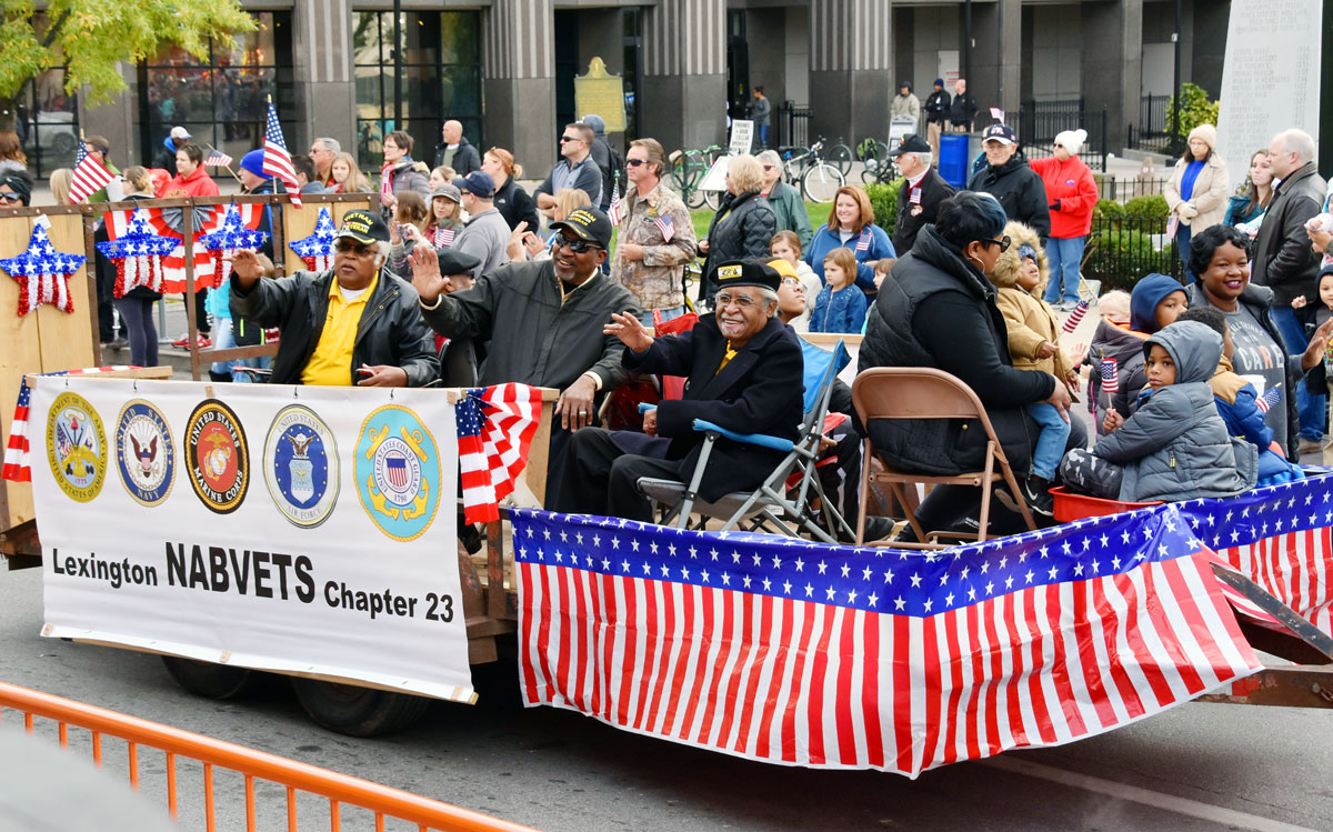 Lexington Veterans Day Parade - NAVBVETS float